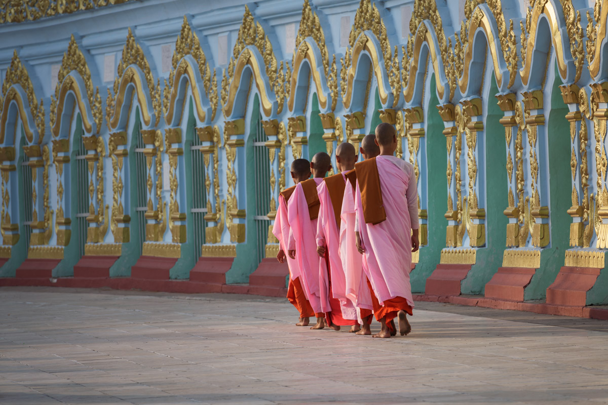 Umin Thonze Pagoda in Sagaing, Myanmar