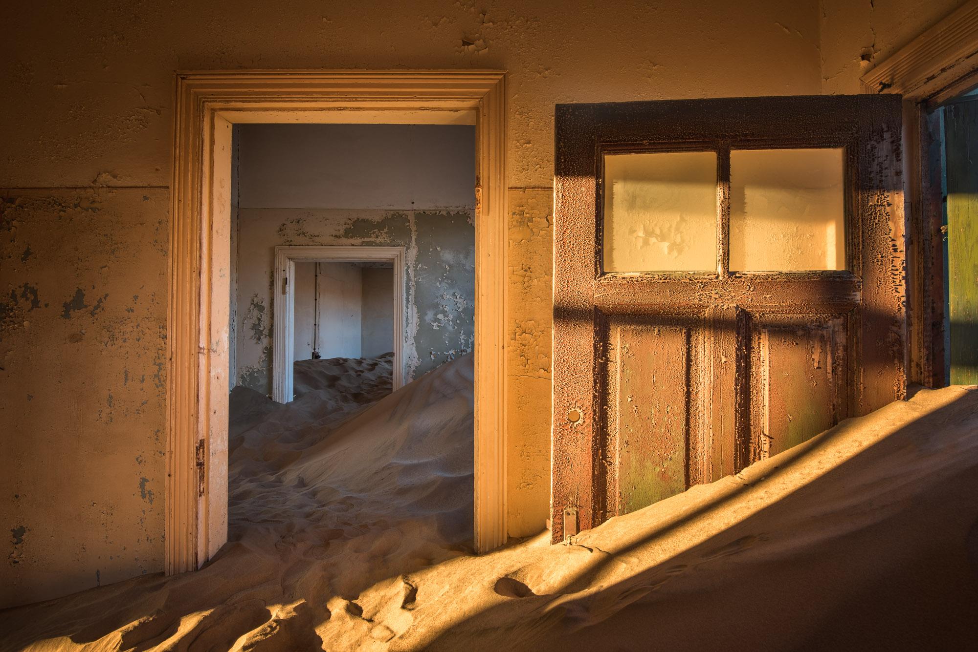 Abandoned House, Ghost Town of Kolmanskop, Namibia