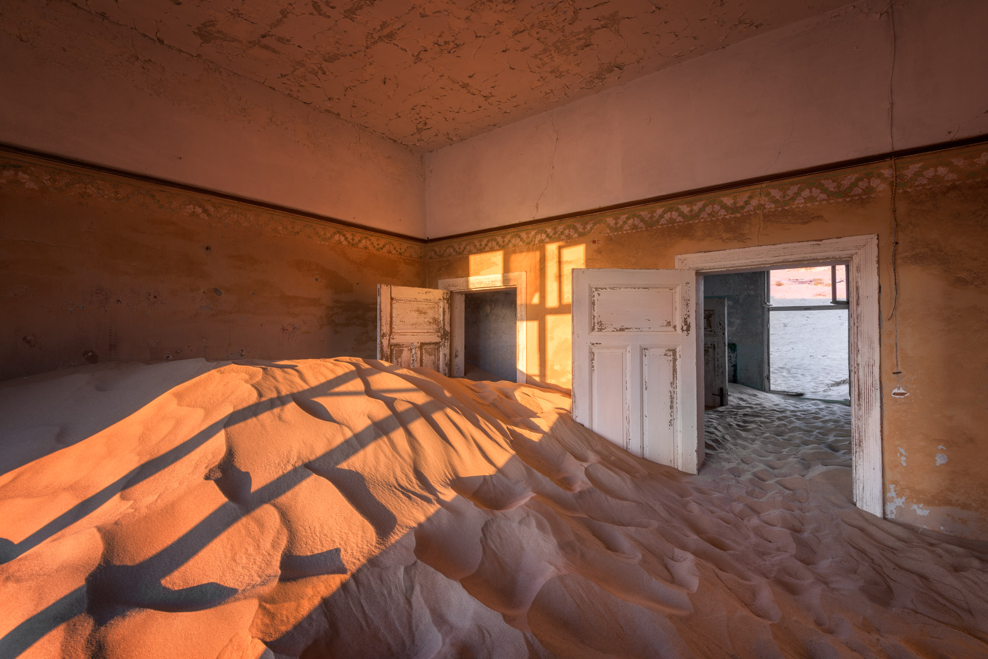 Abandoned House in the Ghost Town of Kolmanskop, Namibia