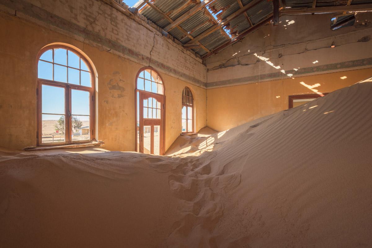 Sand Dunes inside a Derelict House, Kolmanskop, Namibia