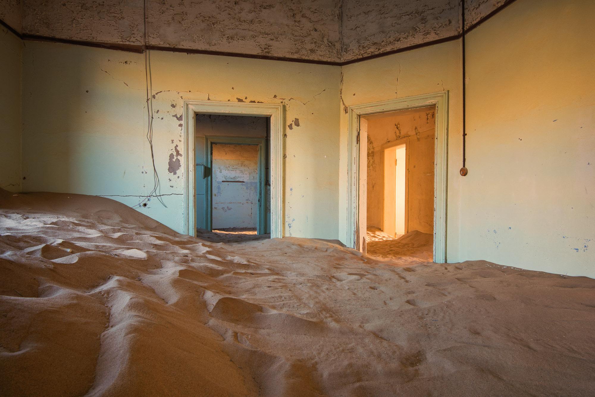 Sand Dunes inside an Abandoned House, Kolmanskop, Namibia