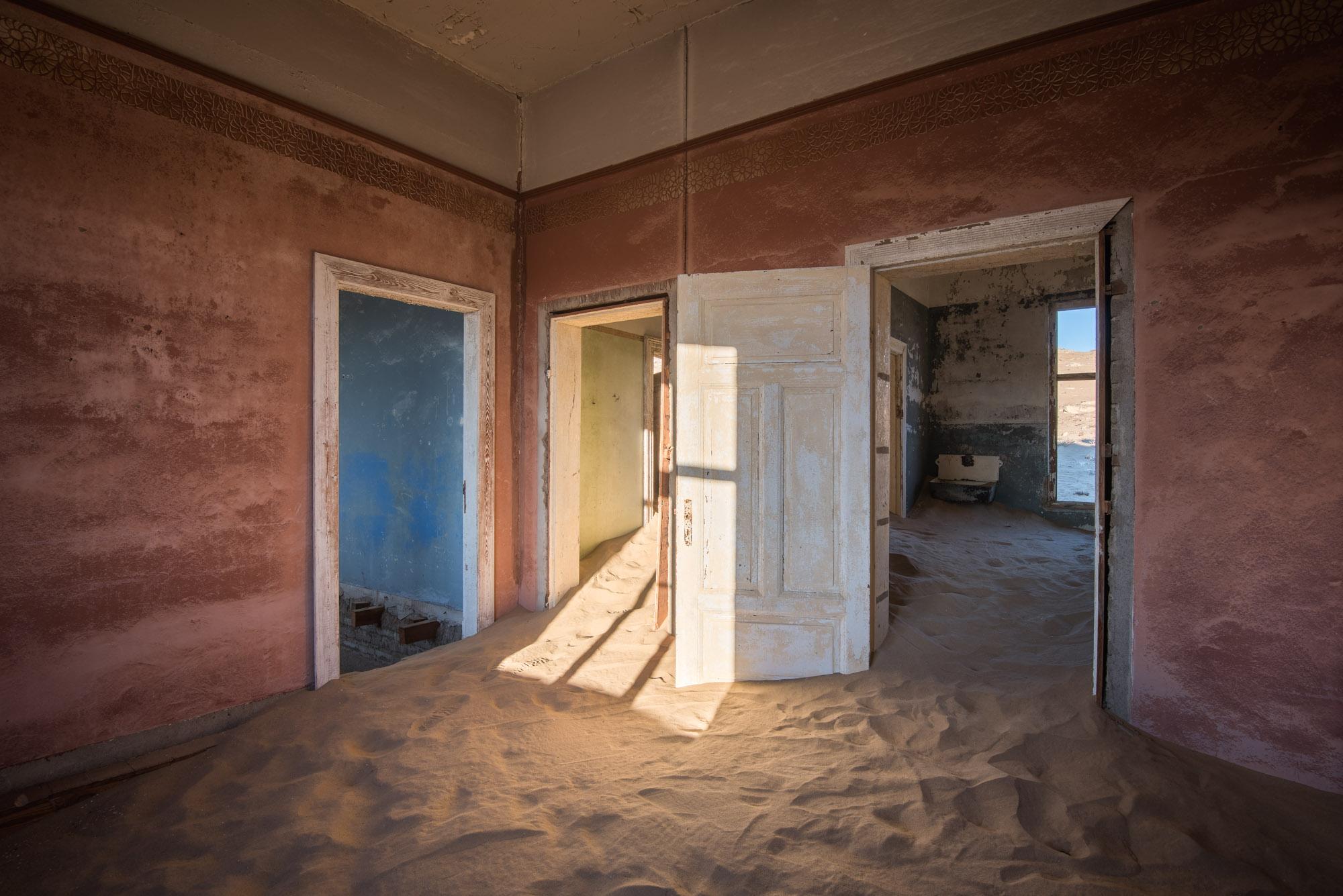 Sand Dunes taking over a Derelict House, Kolmanskop, Namibia