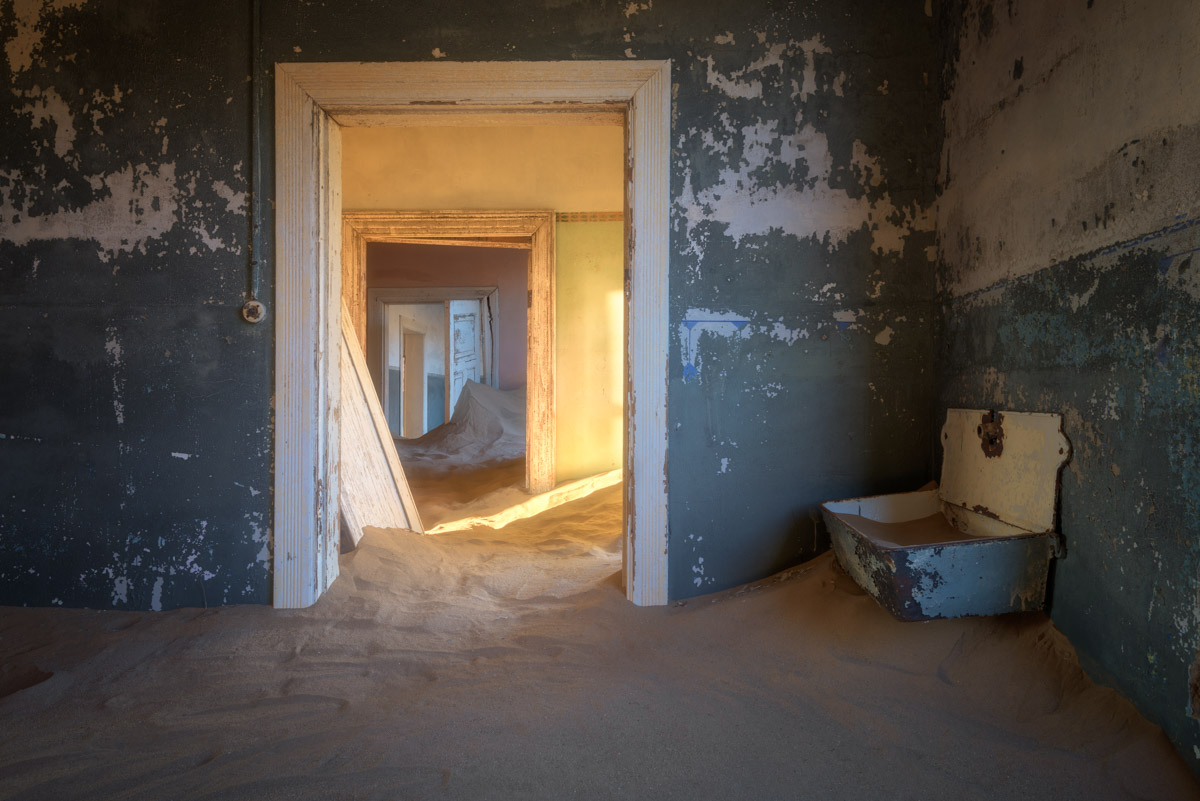 Sand Dunes taking over an Abandoned House, Kolmanskop, Namibia