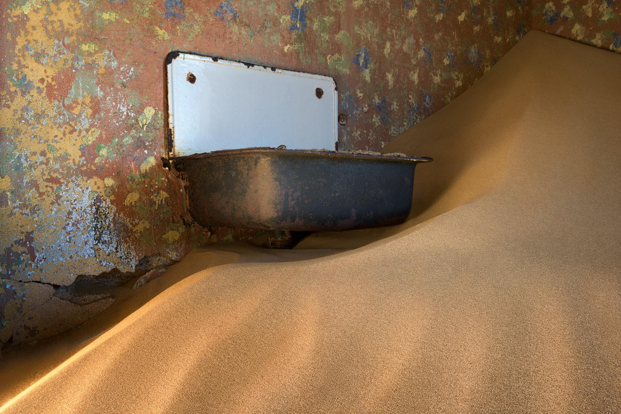 Water Basin in an Abandoned House, Kolmanskop, Namibia