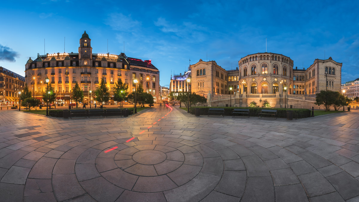 Grand Hotel and Parliament of Norway, Oslo, Norway