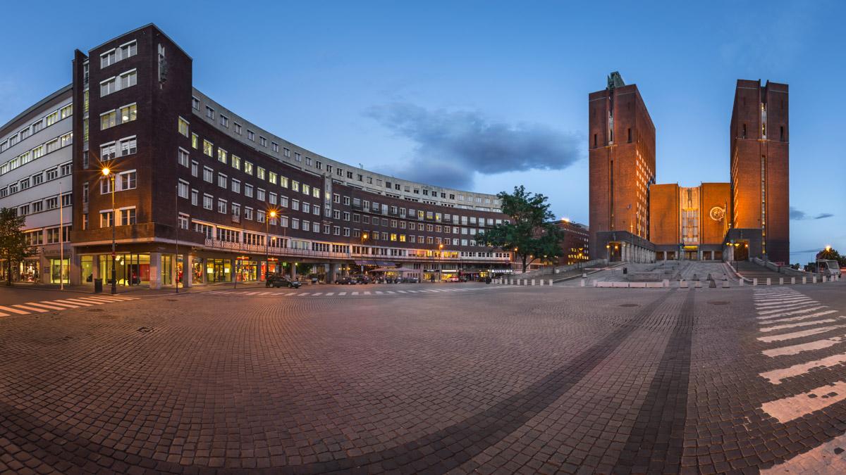 Panorama of City Hall, Oslo, Norway