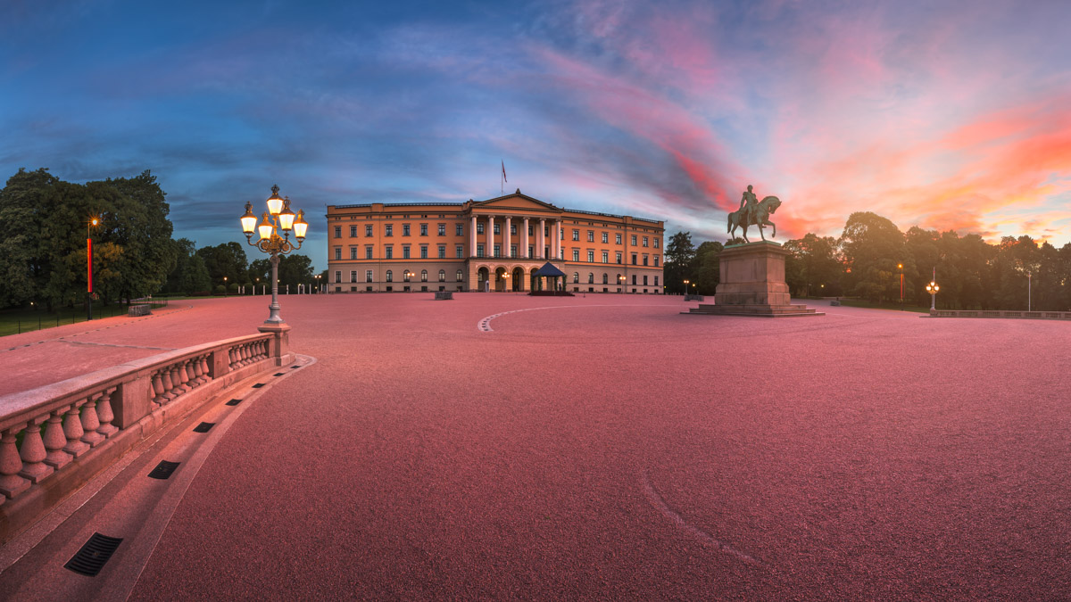 Panorama of the Royal Palace, Oslo, Norway
