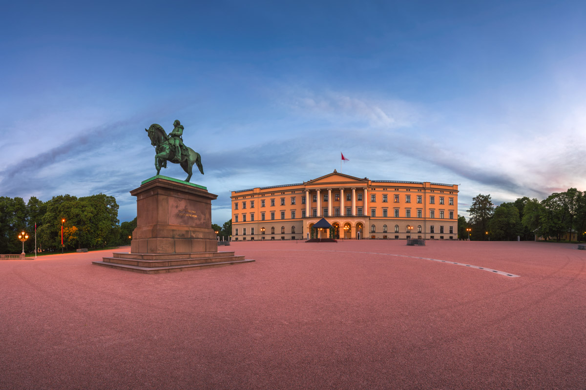Royal Palace in the Morning, Oslo, Norway