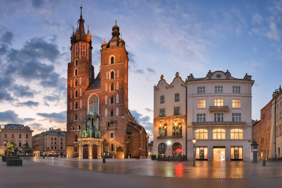 Saint Mary Basilica in Krakow, Poland