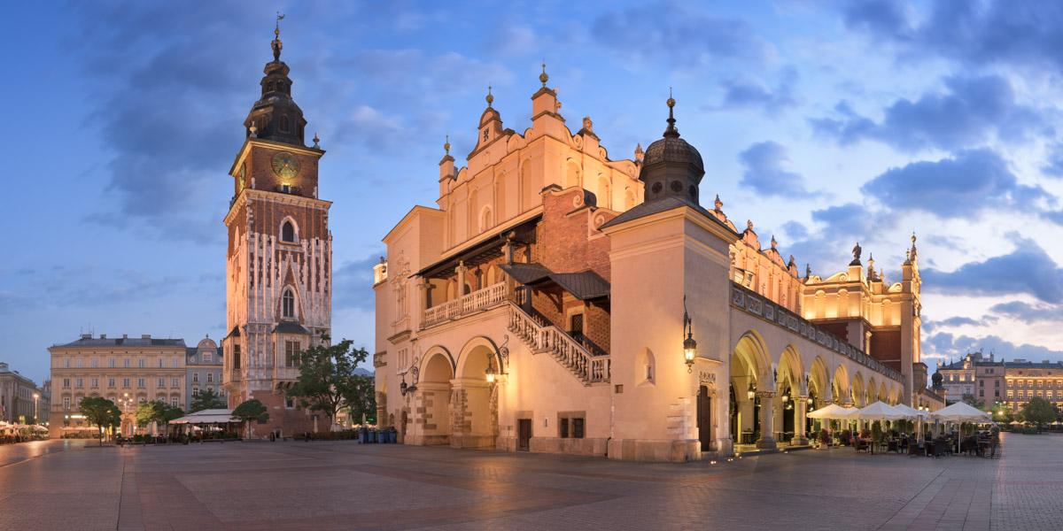 Townhall and Cloth Hall, Krakow, Poland