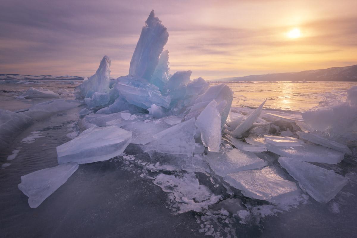 Ice Hummocks, Lake Baikal, Russia