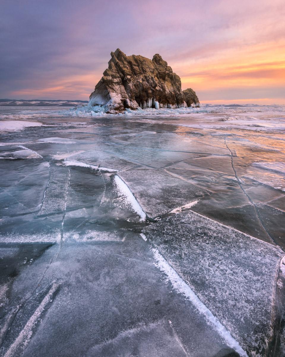 Island Izhilkhey and Lake Baikal, Russia
