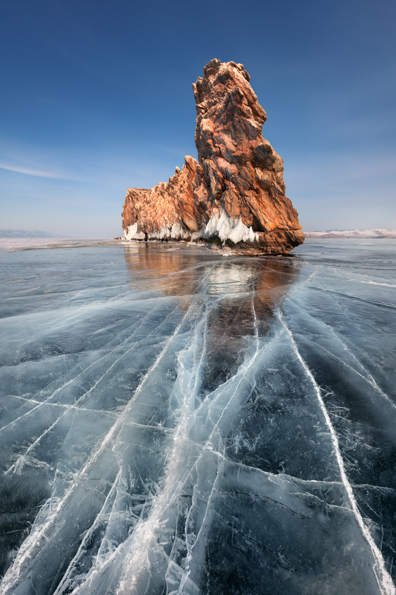 Island Ogoy and Lake Baikal, Russia