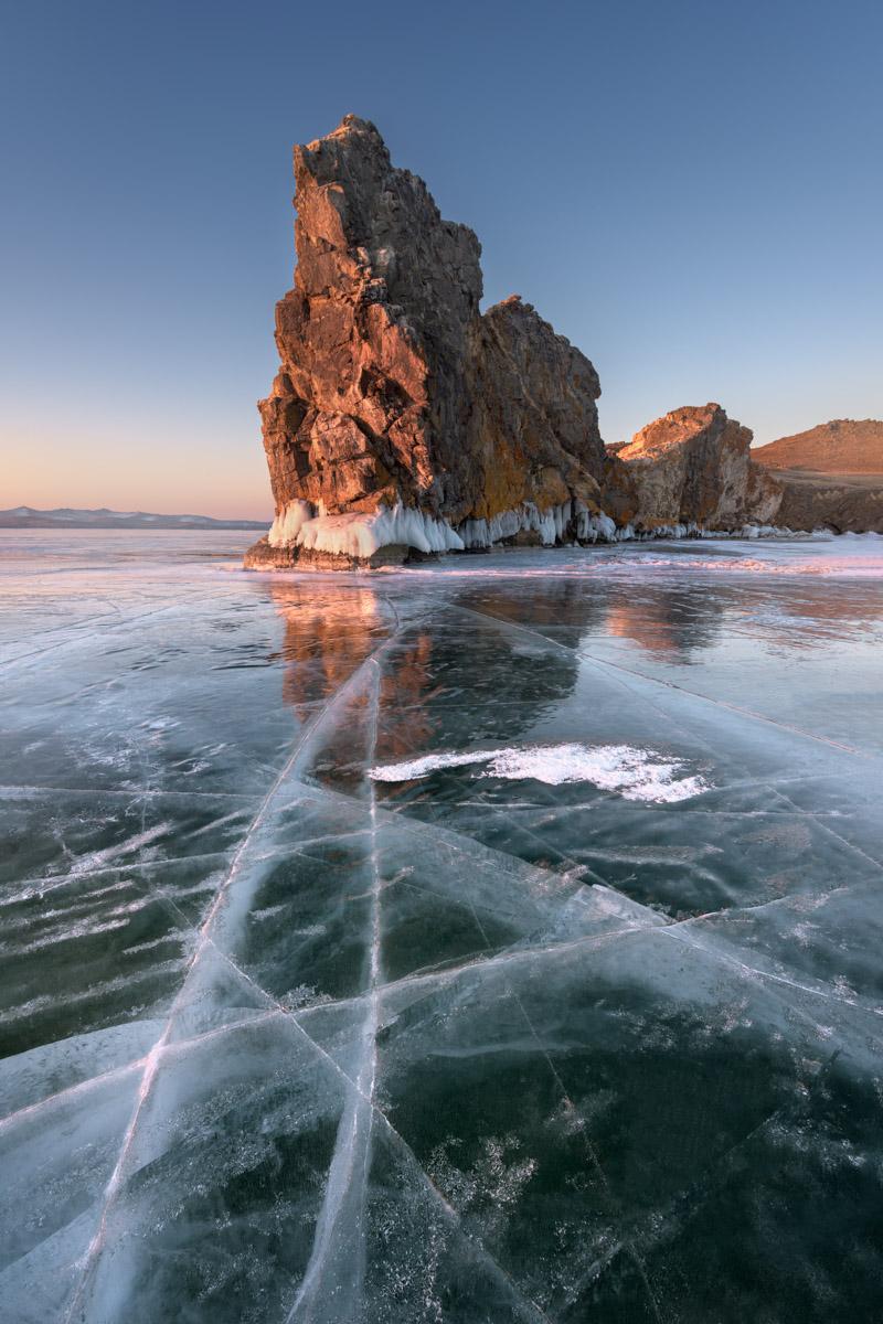 Island Oltrek, Lake Baikal, Russia