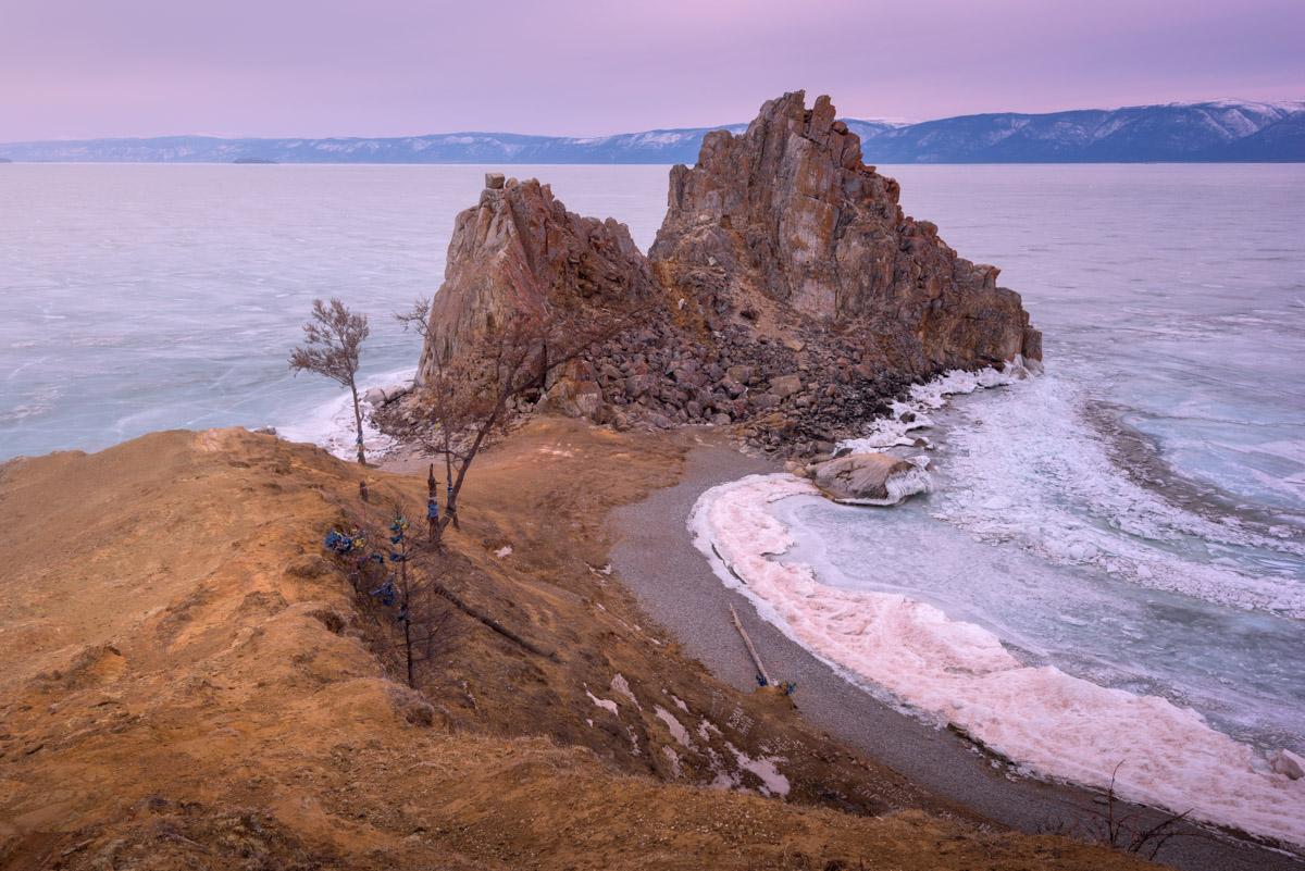 Shamanka Rock and Cape Burkhan, Lake Baikal, Russia
