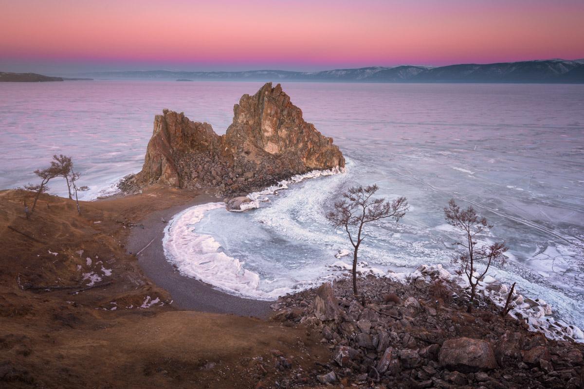 Shamanka Rock, Cape Burkhan, Lake Baikal, Russia