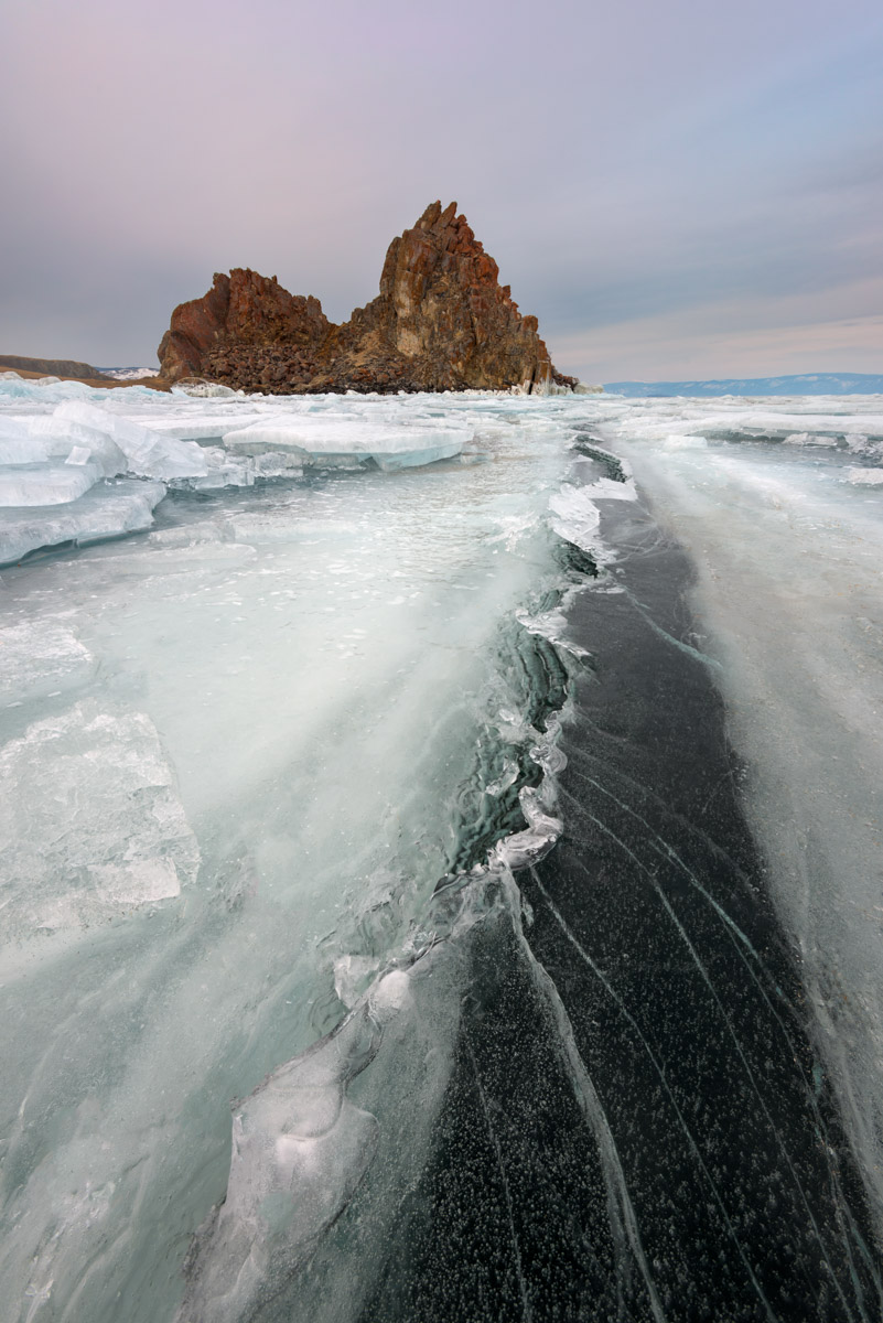 Shamanka Rock, Lake Baikal, Russia