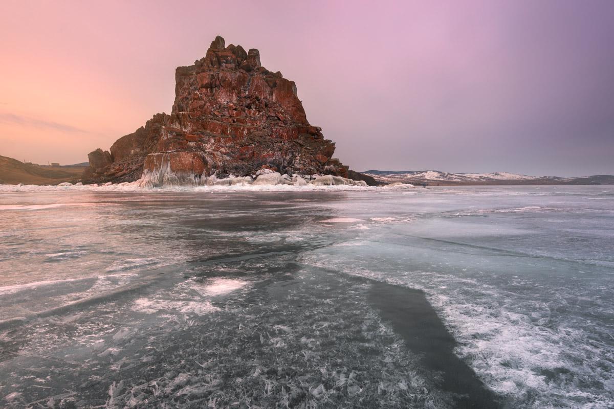 Shamanka Rock, Olkhon Island, Lake Baikal, Russia