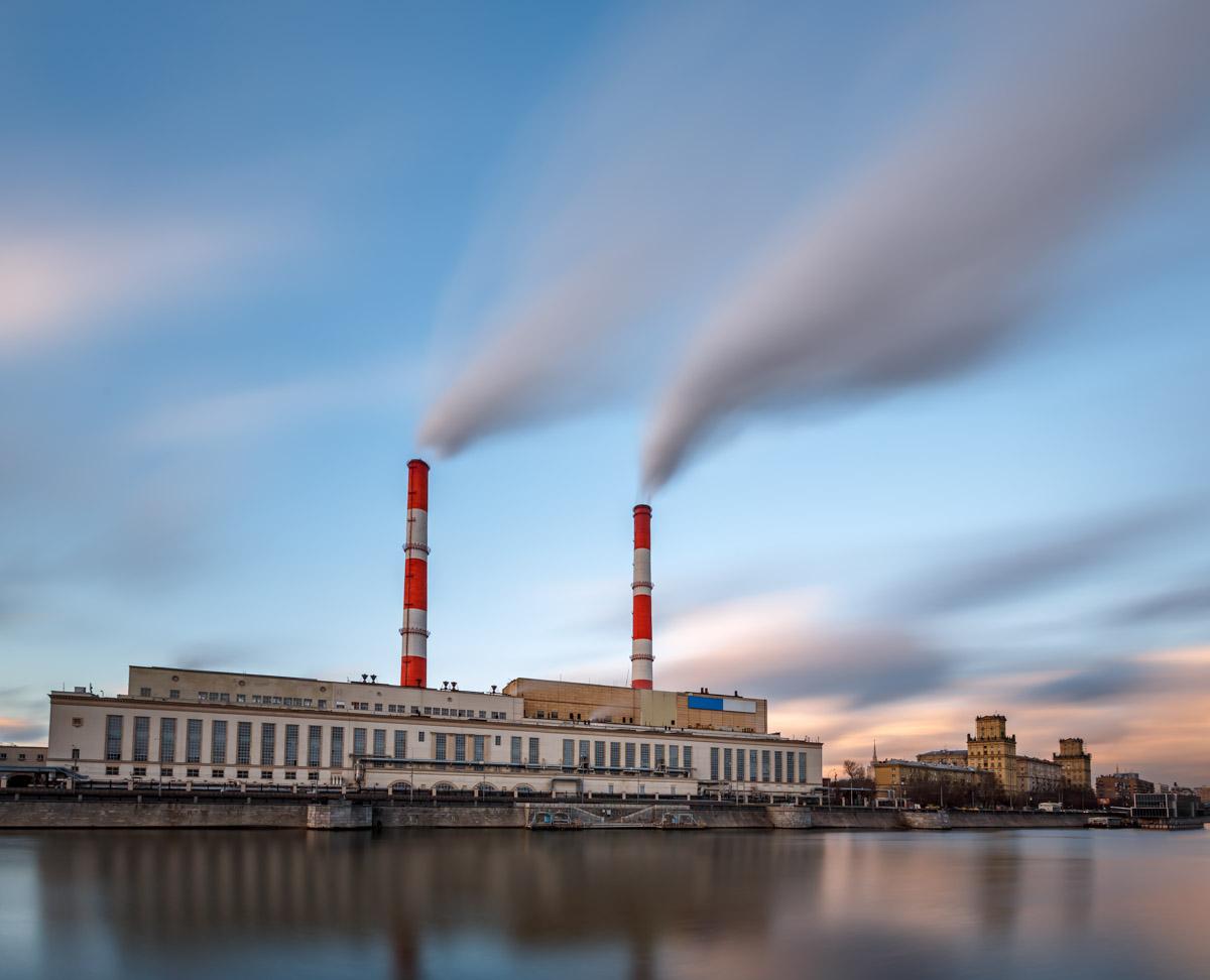 Berezhkovskaya Embankment and Power Plant, Russia