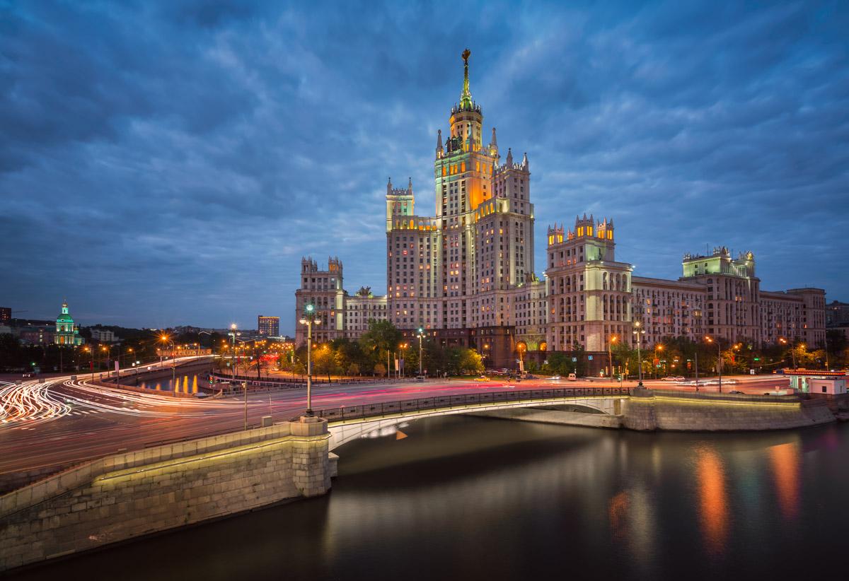 Kotelnicheskaya Embankment Building, Yauza River, Moscow, Russia