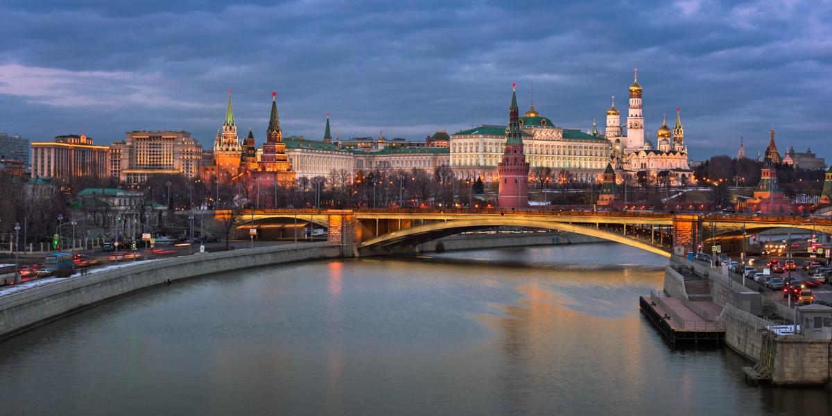 Kremlin, Bolshoy Kamenny Bridge, Moscow, Russia