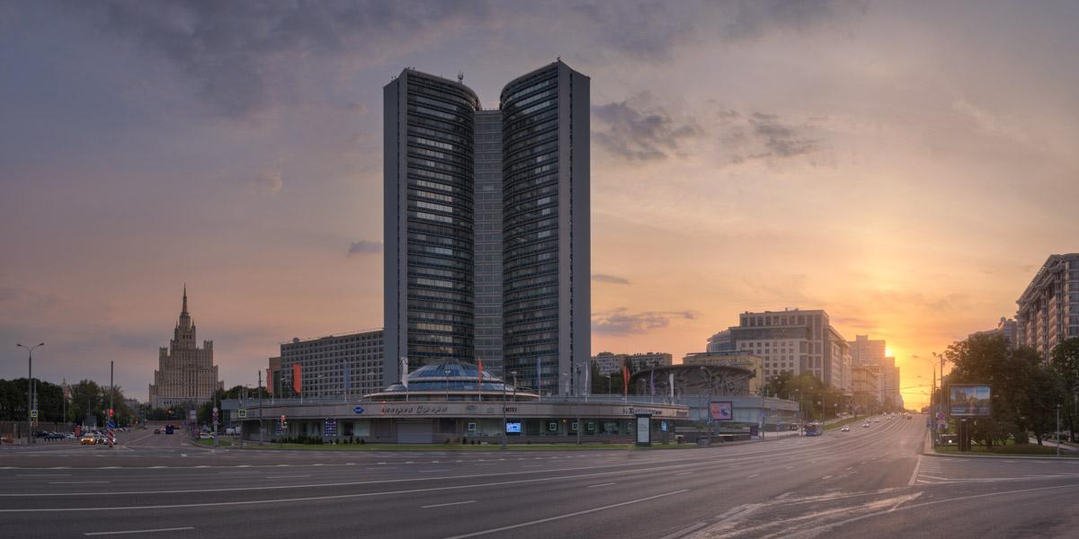New Arbat Avenue, Kudrinskaya Building, Moscow, Russia