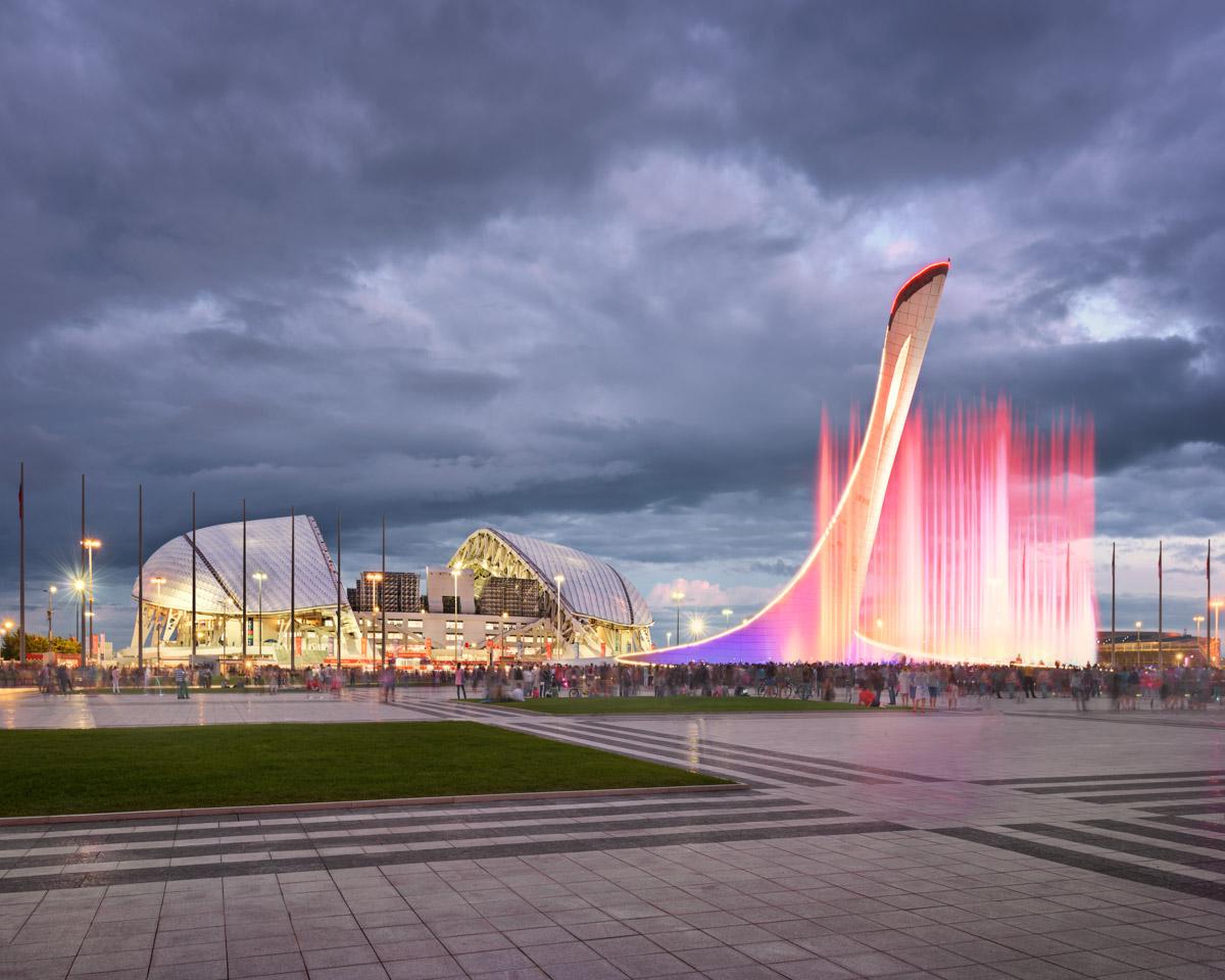 Music Fountain, Olympic Stadium Fisht, Sochi, Russia