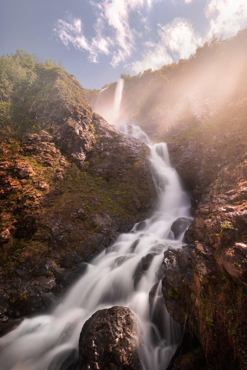Waterfall Polikarya, Krasnaya Polyana, Sochi, Russia