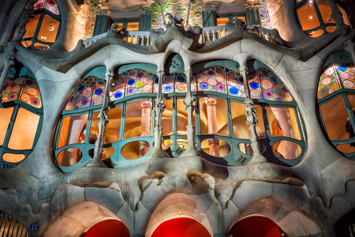 Casa Batllo Facade, Barcelona, Spain