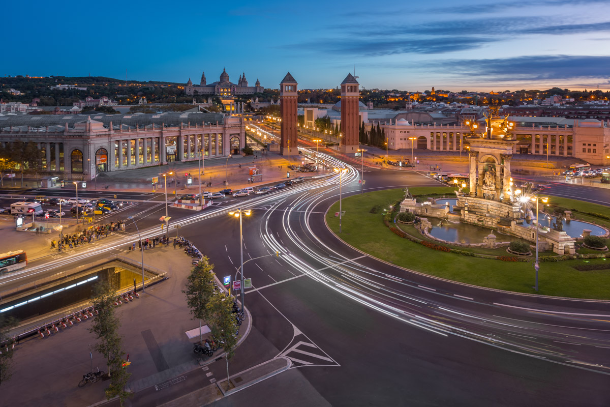 Placa Espanya, Barcelona, Spain