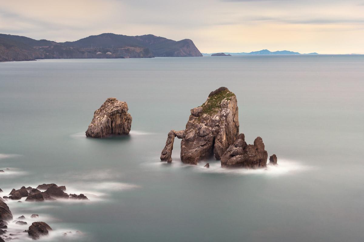 Sea Stacks, Gaztelugatxe, Basque Country, Spain