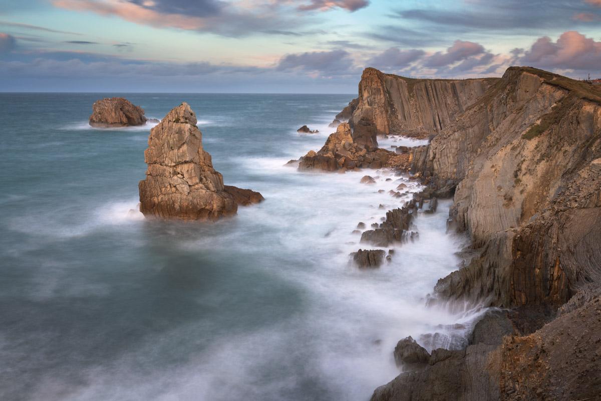Aguja de las Gaviotas Rocks in Liencres, Cantabria, Spain