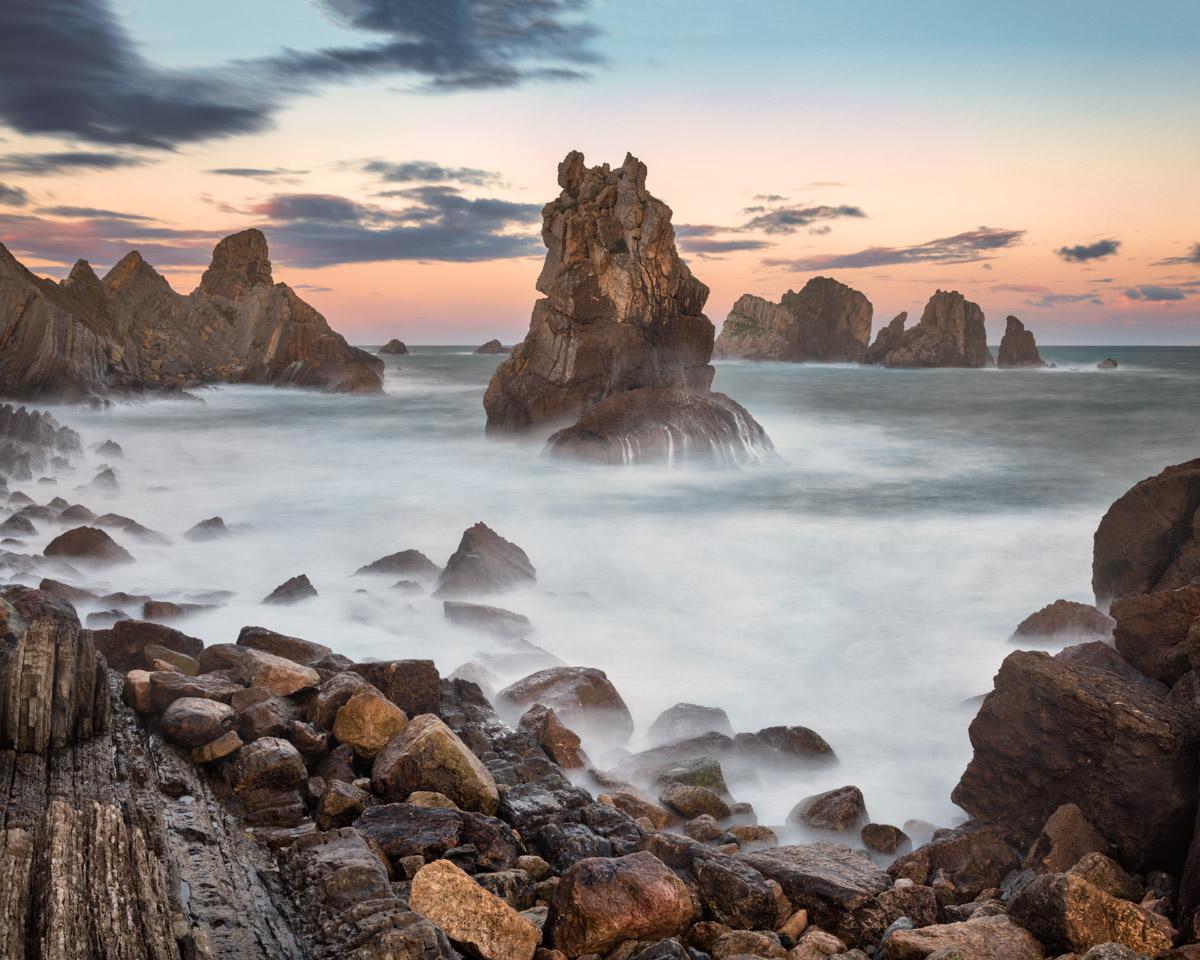 Aguja de las Gaviotas Rocks, Liencres, Cantabria, Spain