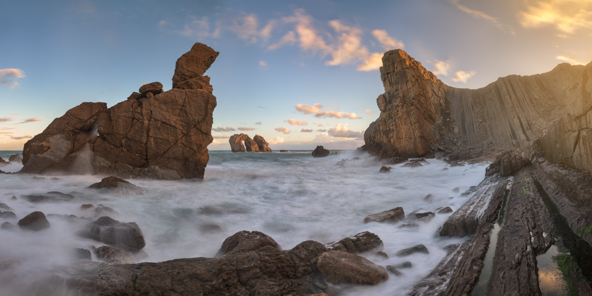 Sea Stacks in Liencres, Cantabria, Spain