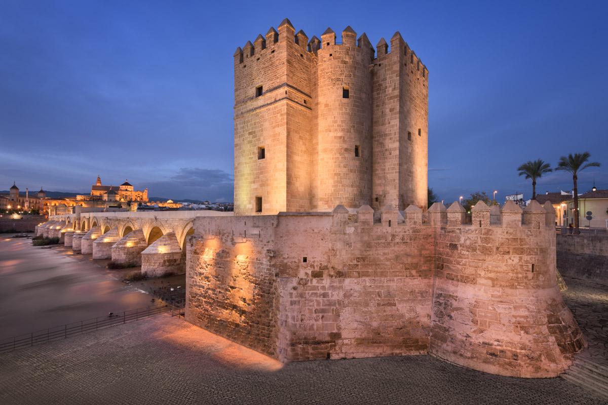 Roman Bridge and Cordoba Skyline, Andalusia, Spain