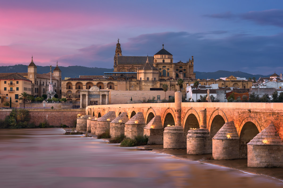 Roman Bridge, Cordoba Skyline, Andalusia, Spain