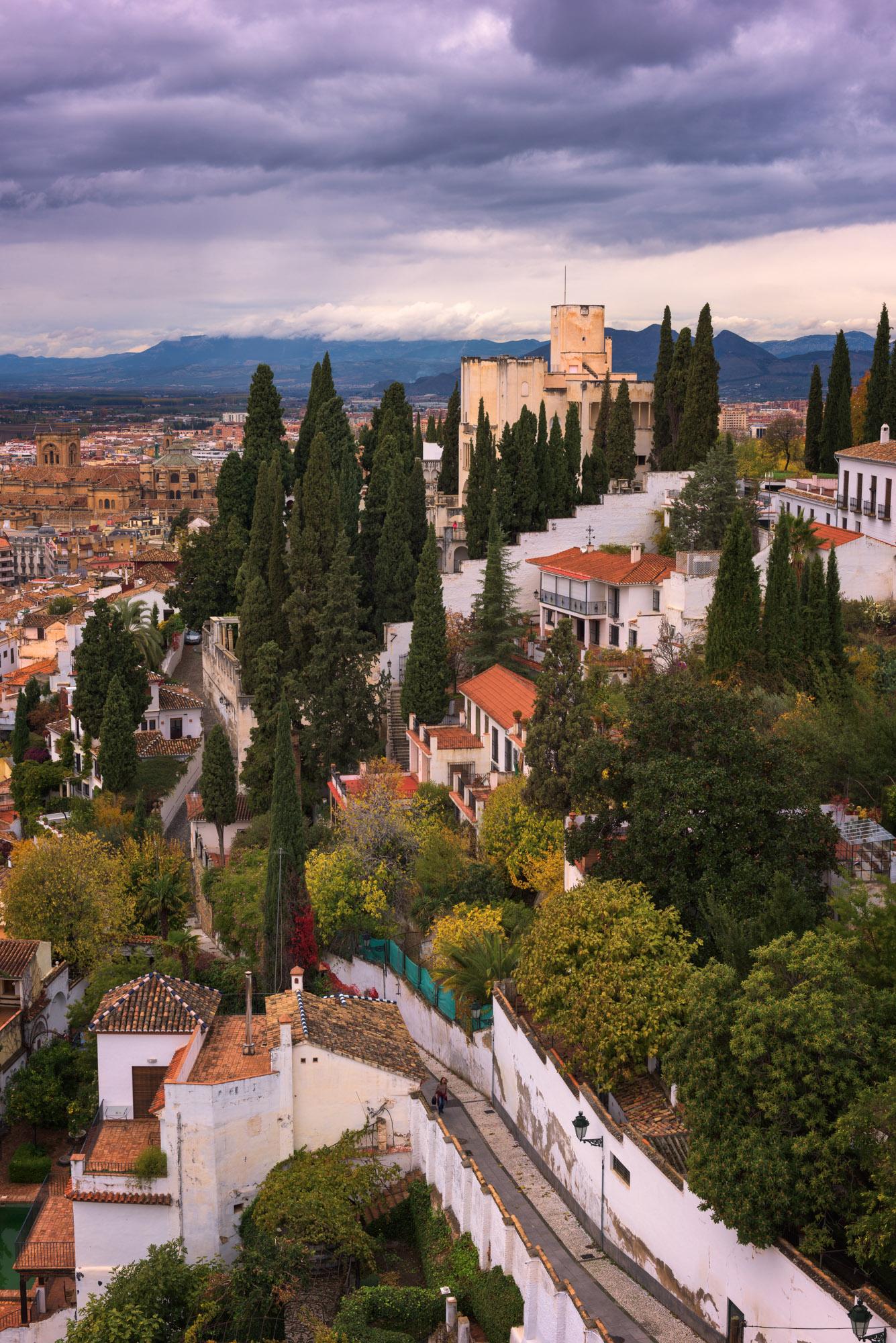 Fundacion Rodriguez-Acosta, Granada Skyline, Spain