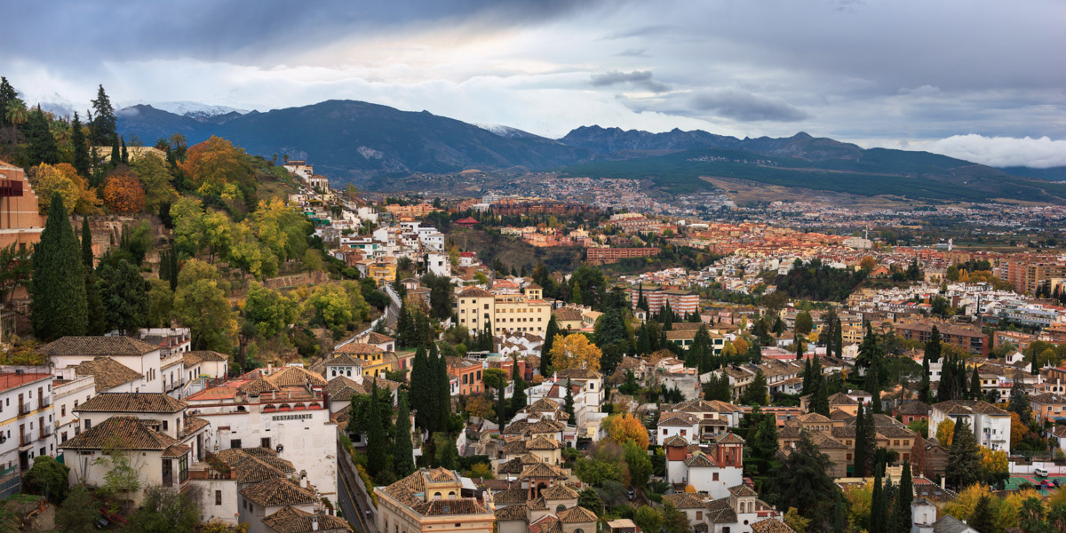 Granada Skyline, Andalusia, Spain