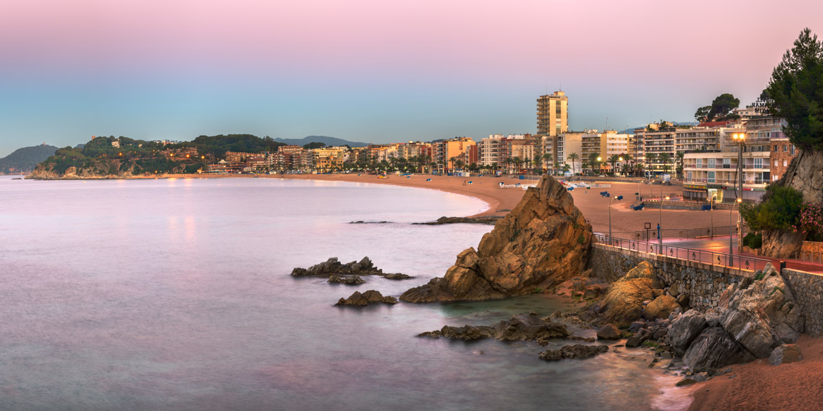 Lloret de Mar Beach, Costa Brava, Spain