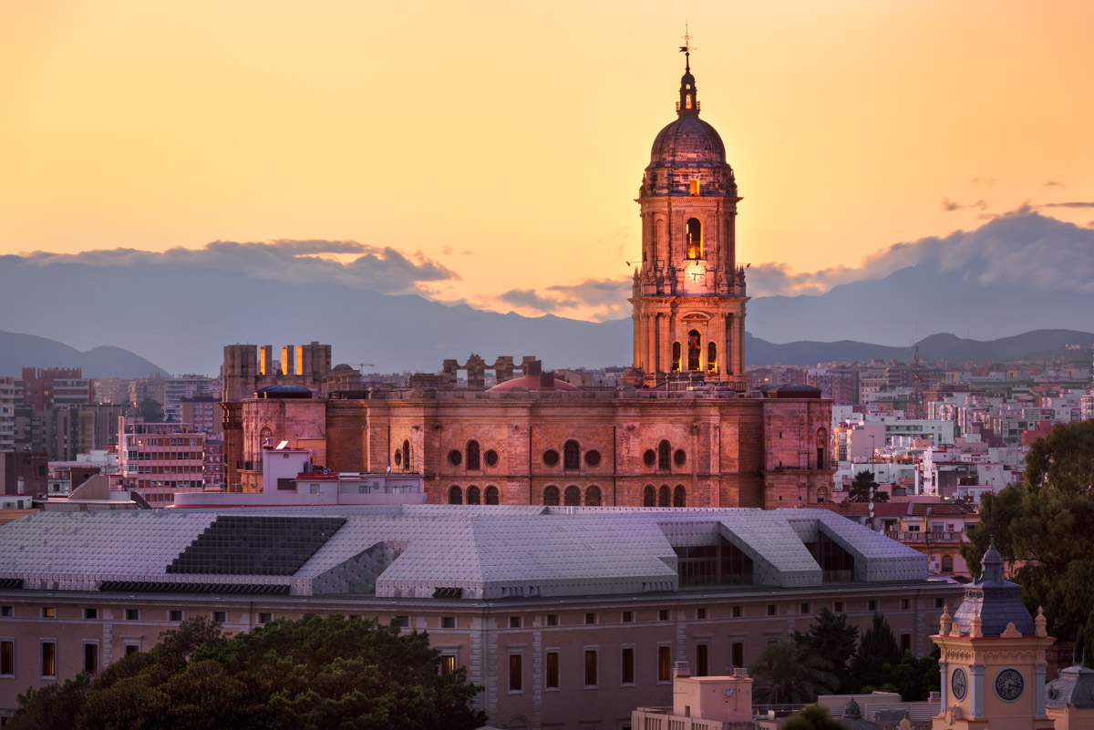 Malaga Cathedral, Malaga, Andalusia, Spain