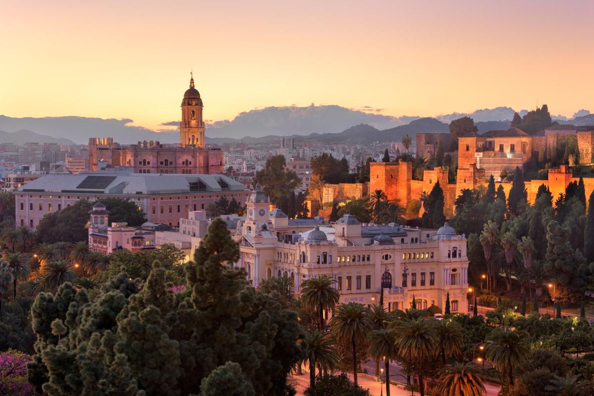 Malaga Skyline, Andalusia, Spain