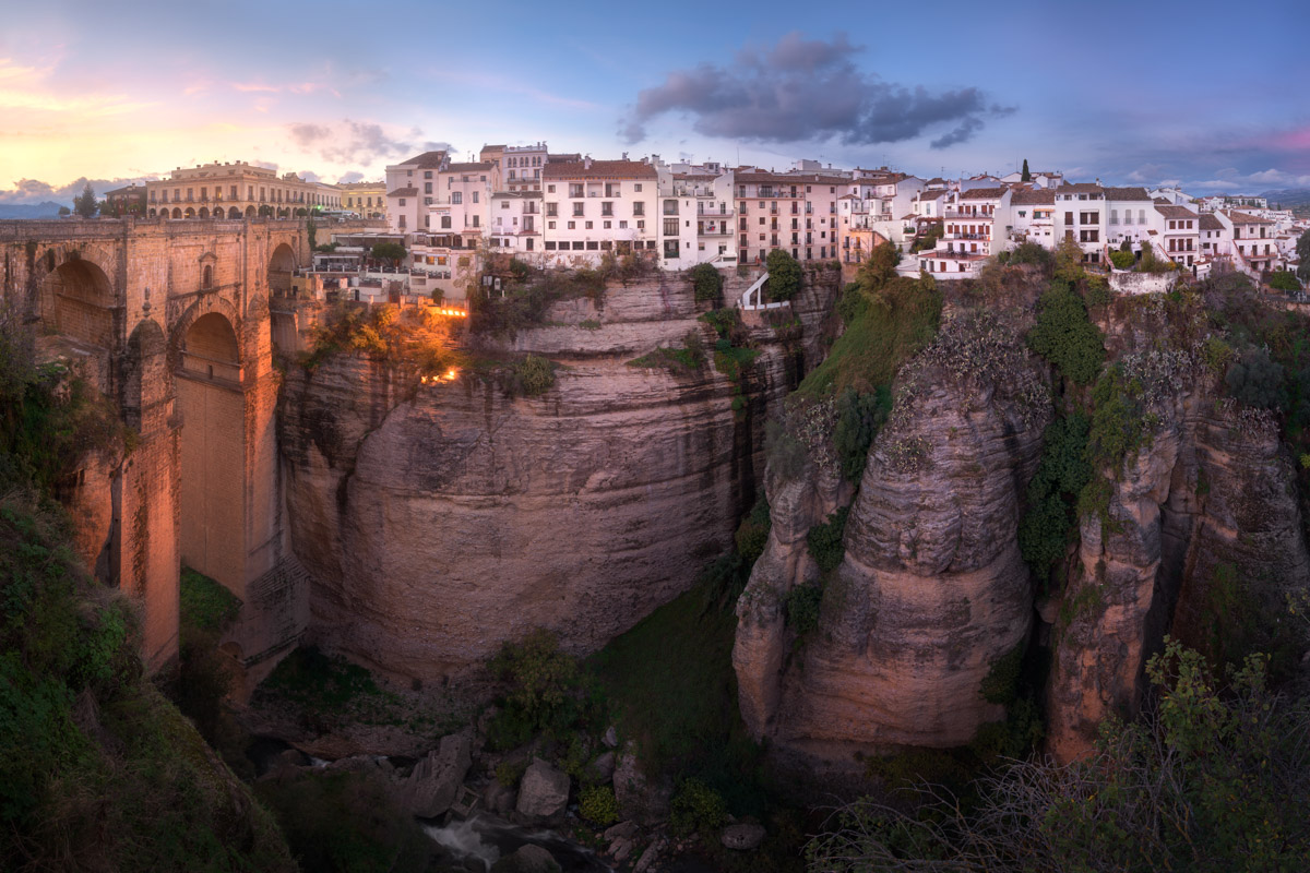 Panorama of Ronda, Andalusia, Spain