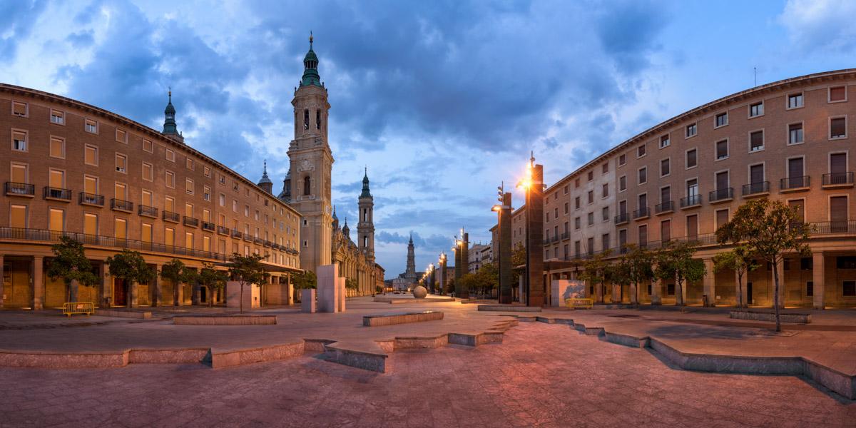 Plaza del Pilar, Zaragoza, Aragon, Spain