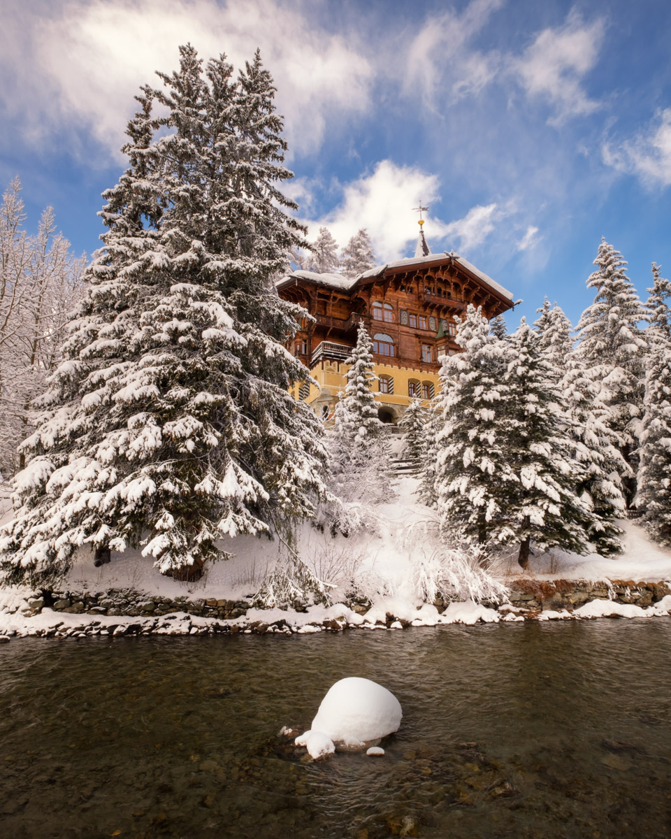 River Inn Promenade in St Moritz, Switzerland