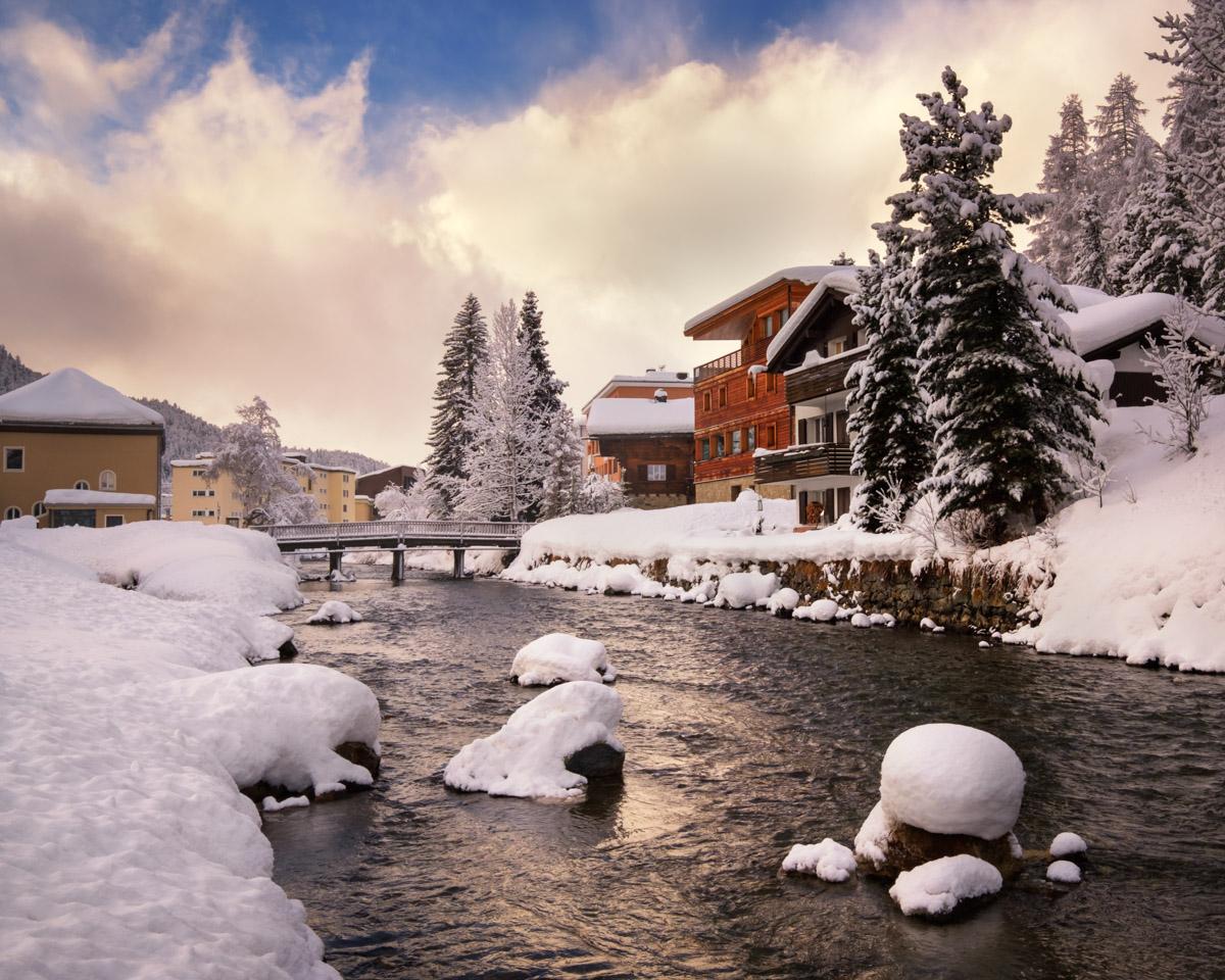 River Inn Promenade, St Moritz, Switzerland