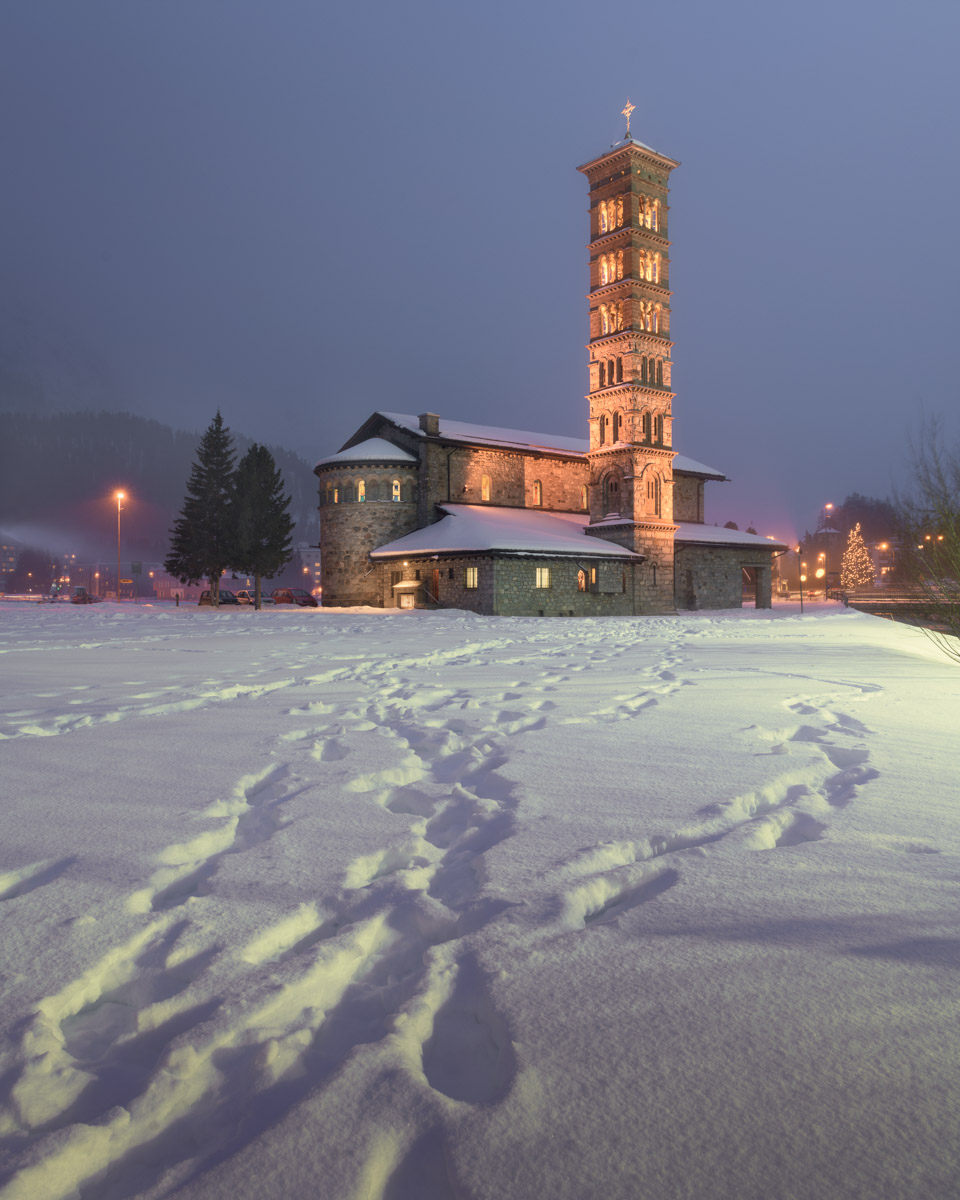 Saint Karl Borromaus Church in St Moritz, Switzerland
