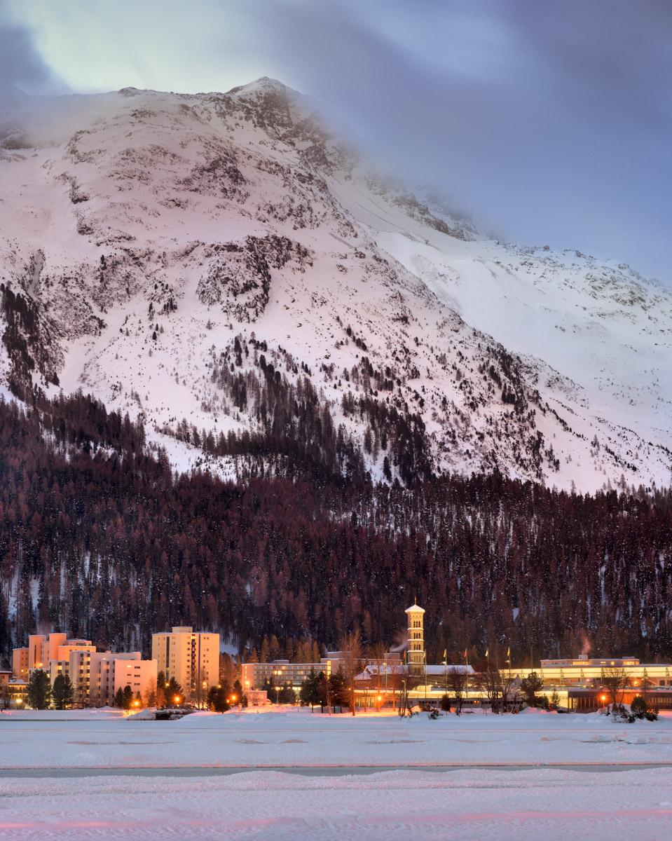 St Moritz and Lake St Moritz, Switzerland