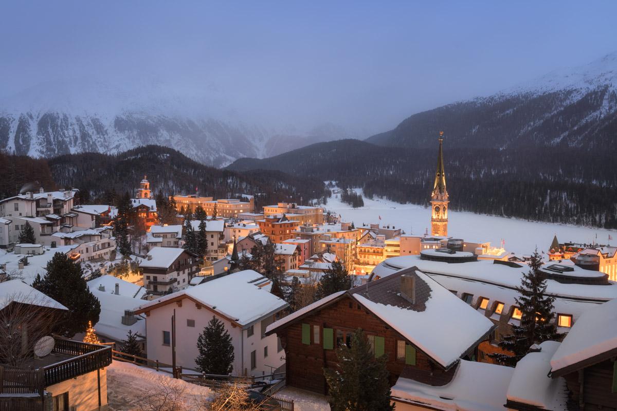 St Moritz in the Evening, Switzerland