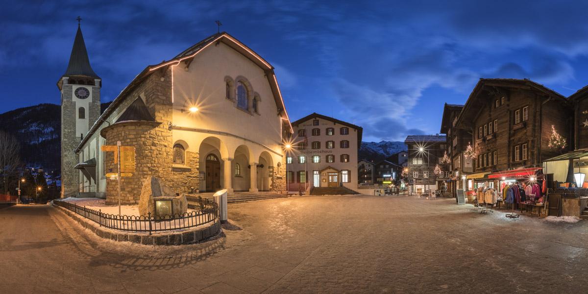 Church of Saint Mauritius in Zermatt, Switzerland