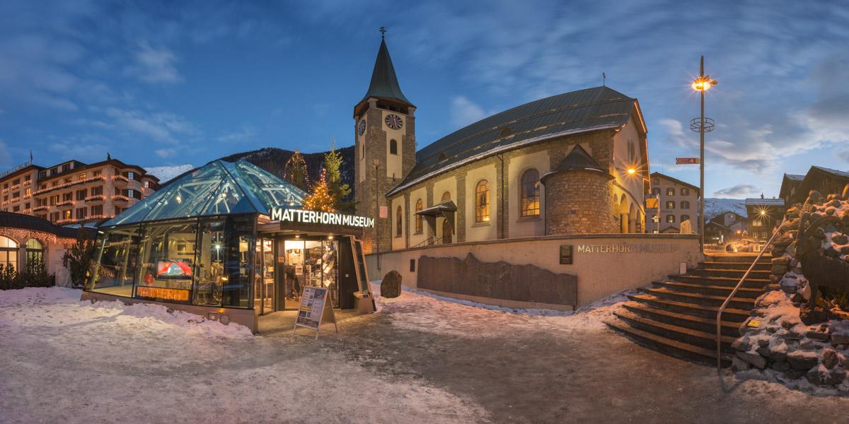 Church of Saint Mauritius, Matterhorn Museum, Zermatt, Switzerla